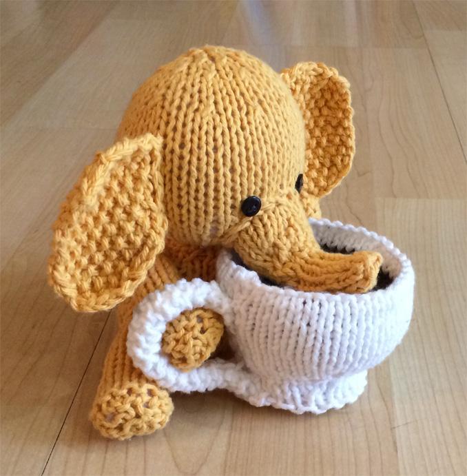 Free Knitting Pattern For Elephant Toy : Elephant Strikke 1 Pinterest